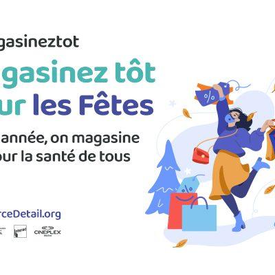 (Fr) Revue de presse | Lancement de la campagne « Cette année on magasine tôt, pour la santé de tous »: le CCCD encourage les Québécois à faire leurs achats plus tôt